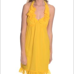 Betsey Johnson Yellow Silk Dress